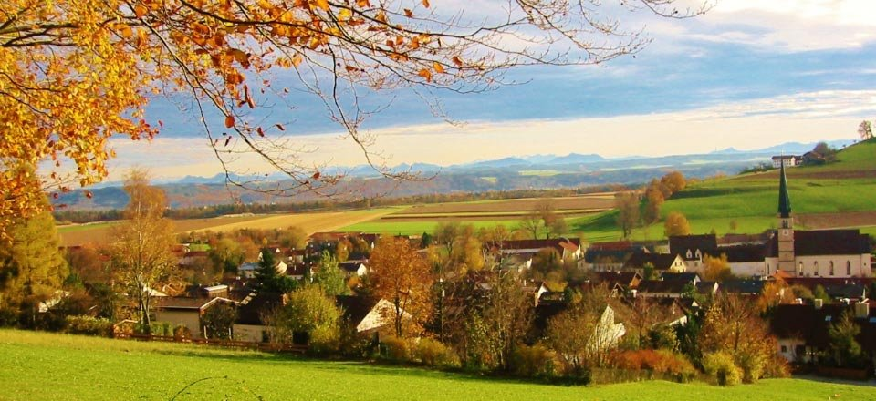 aschau dorp zillertal herfst