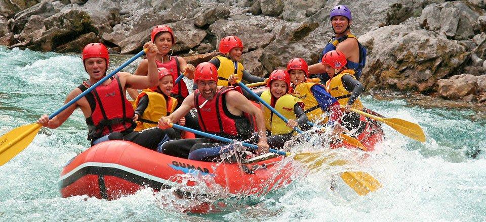 raften soca river bovec slovenie