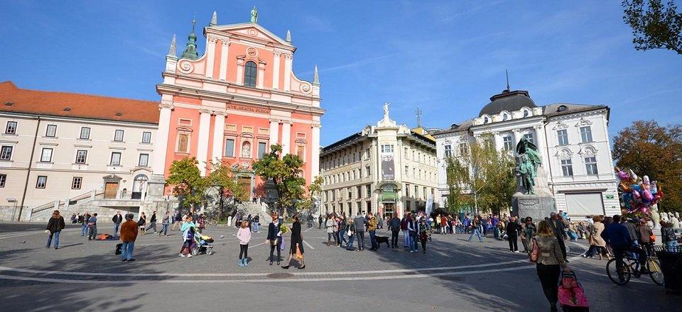 ljubljana dalmatinova preseren square