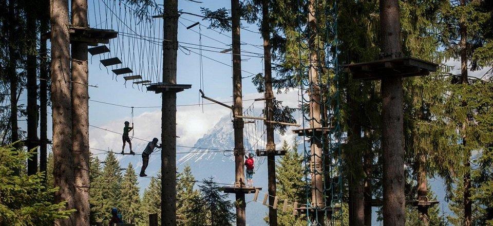 klimbos kletterwald hornpark st johann in tirol