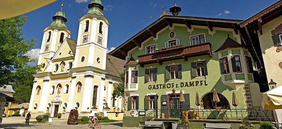 st johann in tirol dekanatskirche gasthof zum dampfl by franz gerdl
