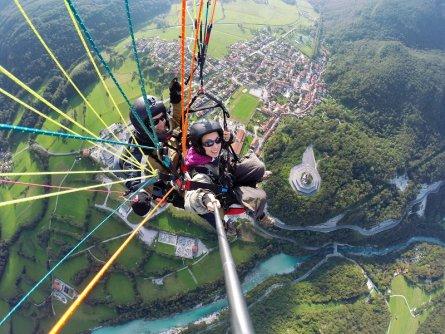 tandem paragliding bovec