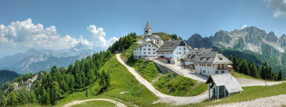alpe adria trail monte lussari italie