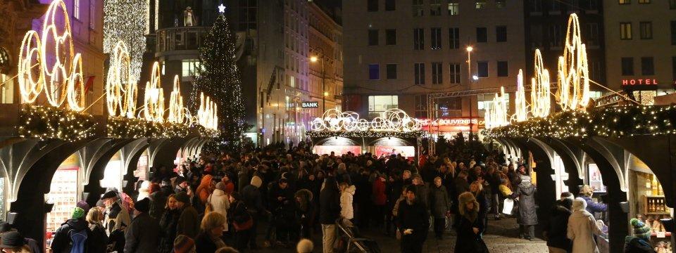 weihnachtsmarkt am stephansplatz kerstmarkt wenen
