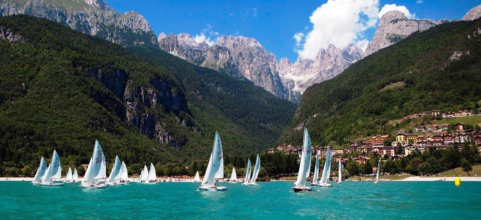 watersport zeilen molveno trentino italië
