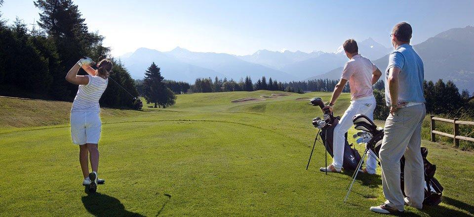 golfen crans montana wallis zwitserland