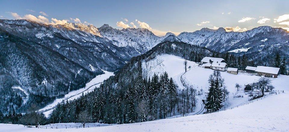 logarska dolina vakantie slovenië julische alpen wintersport