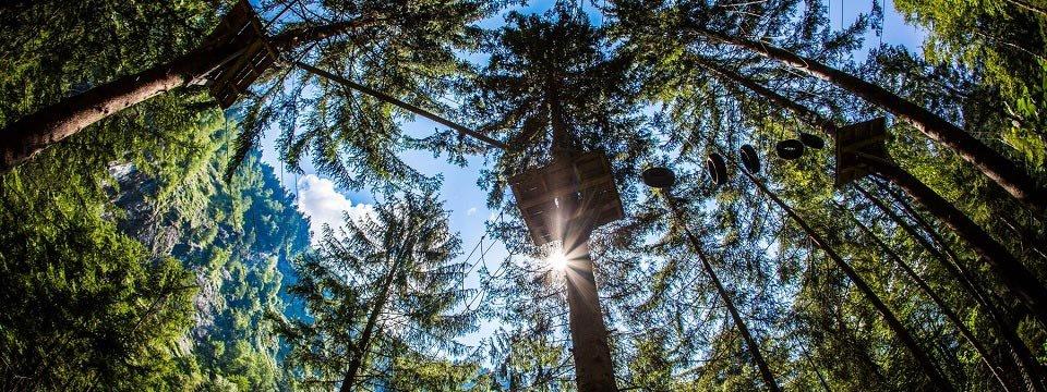 family high ropes course ibex tour outdoor active zillertal vakantie oostenrijk oostenrijkse alpen