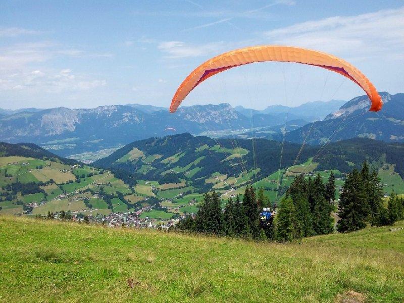 Tandem-paragliding in het Zillertal