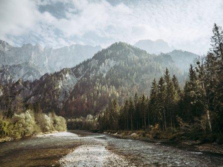 lynx trail meerdaagse wandeltocht oostenrijk oostenrijkse alpen etappe 6 am fotopoint johnsbachsteg
