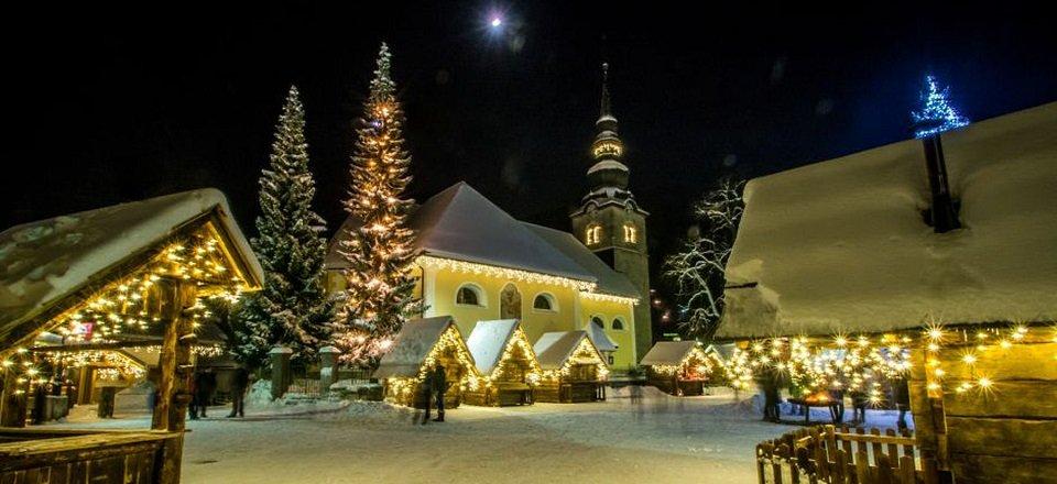 kranjska gora slovenie wintersport kerstmarkt