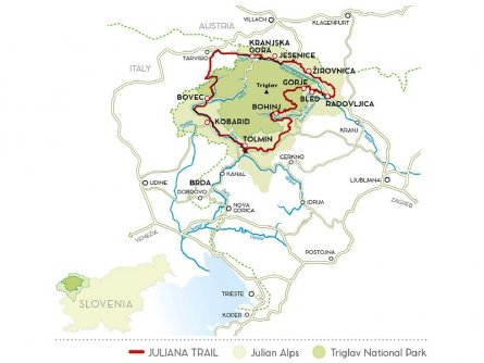 gehele juliana trail actieve vakantie meerdaagse wandeltocht julische alpen slovenië op maat triglav national park
