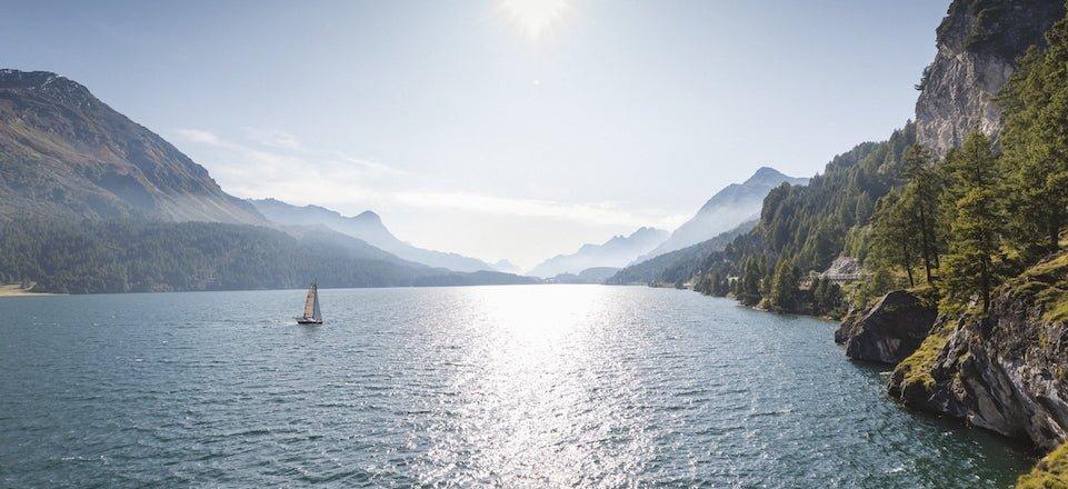 zeilen engadin graubunden zwitserland tourismus engadin