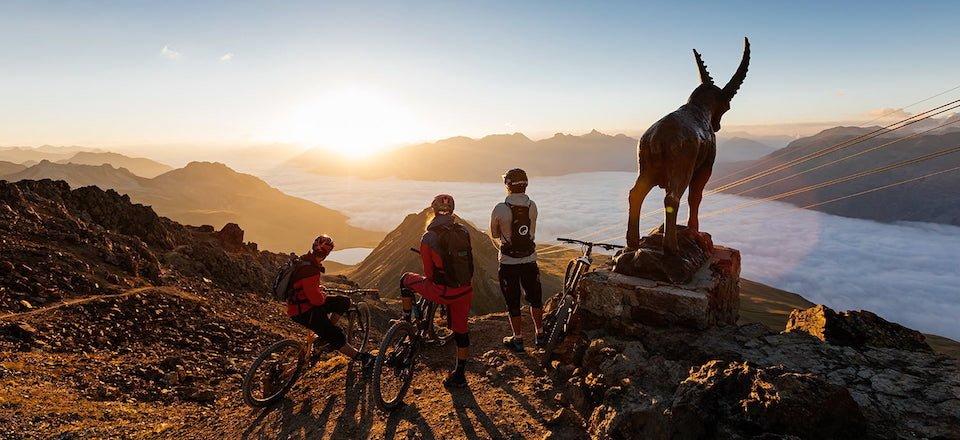 mountainbiking sankt moritz engadin graubunden zwitserland tourismus sankt moritz
