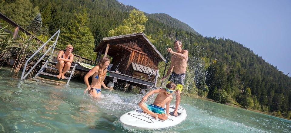relaxen ontspannen watersport weissensee karinthie oostenrijk tourismus weissensee