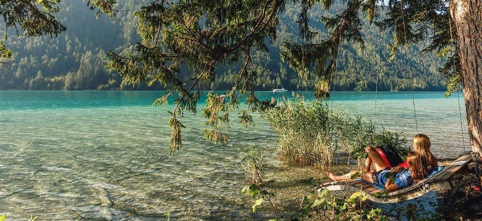 relaxen ontspannen weissensee karinthie oostenrijk tourismus weissensee