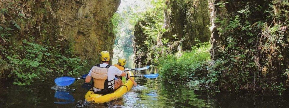 family active val di sole avontuurlijke gezinsvakantie trentino italie canoeing rio novella gorges