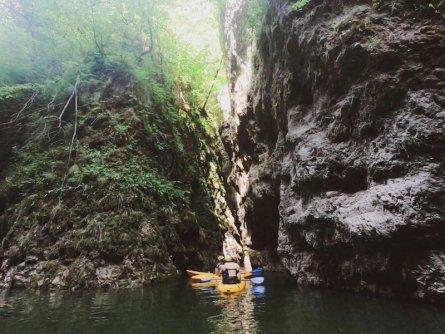 family active val di sole avontuurlijke gezinsvakantie trentino italie canoeing rio novella gorges 4