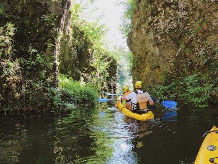 family active val di sole avontuurlijke gezinsvakantie trentino italie canoeing rio novella gorges 3