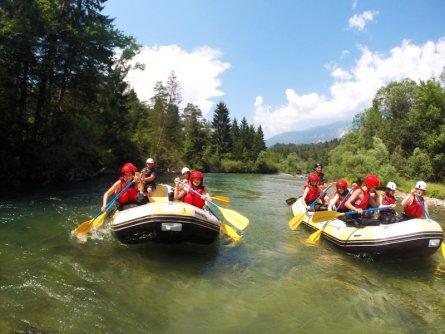 family active bled actieve gezinsvakantie slovenie julische alpen rafting sava river 2