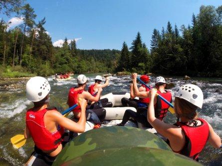 family active bled actieve gezinsvakantie slovenie julische alpen rafting sava river 1