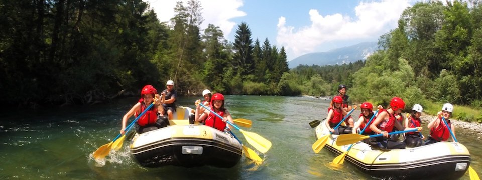 family active bled actieve gezinsvakantie slovenie julische alpen rafting sava river