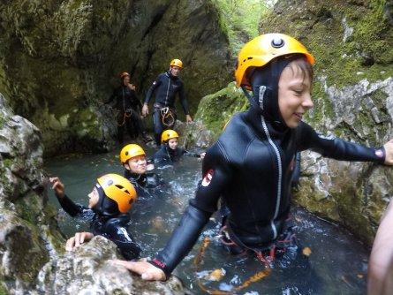 family active bled actieve gezinsvakantie slovenie julische alpen canyoning jereka 5