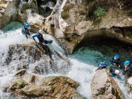 family active lofer salzburger saalachtal avontuurlijke gezinsvakantie oostenrijk canyoning rocks and ropes