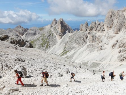 stage 5 apt val di fassa_valle del vajolet principe huttentocht dolomieten panorama val di fassa zuid tirol italie italiaanse alpen wandelvakantie