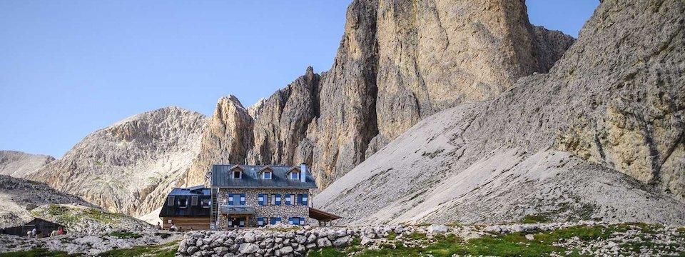 huttentocht dolomieten panorama val di fassa zuid tirol italie italiaanse alpen wandelvakantie rifugio antermoia