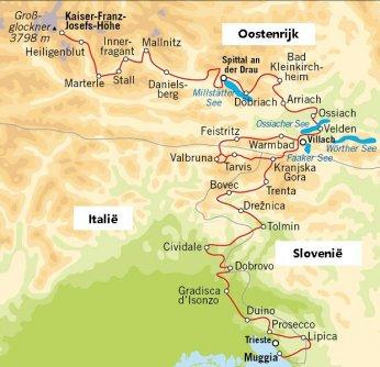 alpe adria trail kaart