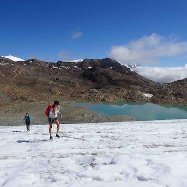 huttentocht stelvio glacier italie glacier crossing